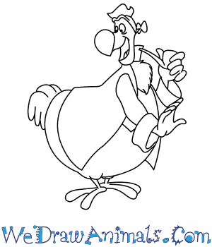 How to Draw  Dodo From Disney in 7 Easy Steps