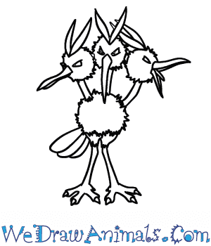 How to Draw  Dodrio in 7 Easy Steps
