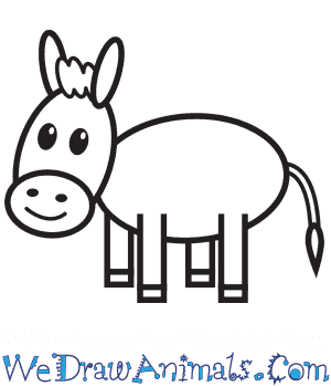How to Draw a Donkey For Kids in 9 Easy Steps