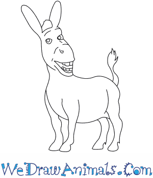 How To Draw Donkey From Shrek