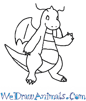 How To Draw Dragonite Pokemon