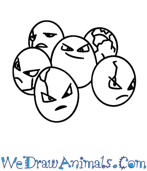 How to Draw  Exeggcute in 5 Easy Steps