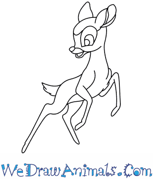 How to Draw  Faline From Bambi in 7 Easy Steps
