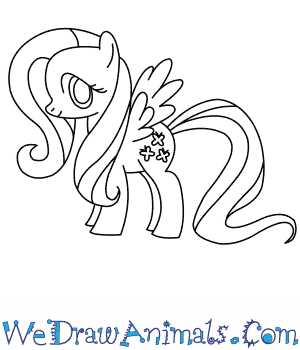 How to Draw  Fluttershy in 8 Easy Steps