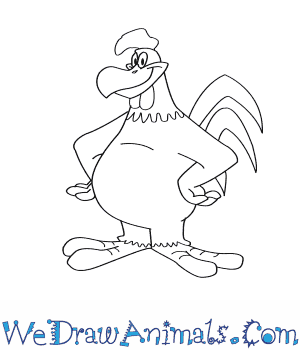 How to Draw  Foghorn Leghorn in 7 Easy Steps