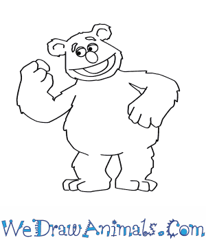 How to Draw  Fozzie Bear From The Muppets in 7 Easy Steps