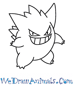 How to Draw  Gengar in 6 Easy Steps