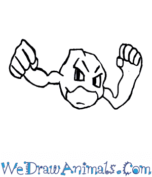 How to Draw  Geodude in 5 Easy Steps