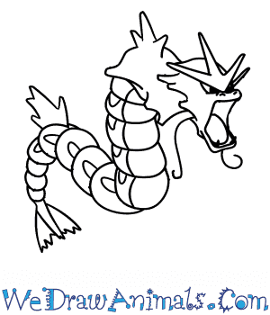 How to Draw  Gyarados in 7 Easy Steps