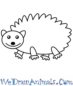 How to Draw a Hedgehog For Kids in 6 Easy Steps