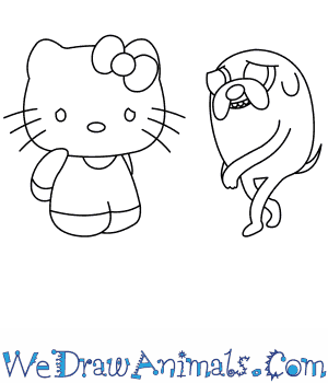 How to Draw  Hello Kitty in 14 Easy Steps