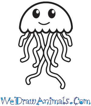How To Draw A Simple Jellyfish For Kids