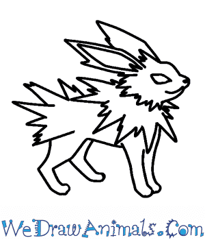 How to Draw  Jolteon in 7 Easy Steps