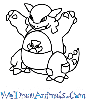 How to Draw  Kangaskhan in 7 Easy Steps