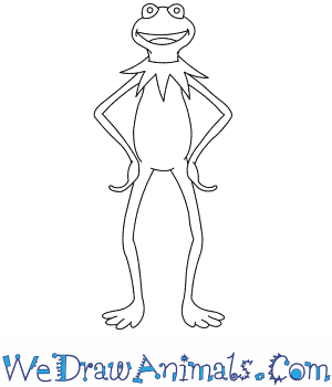 How to Draw  Kermit The Frog in 7 Easy Steps