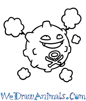 How to Draw  Koffing in 6 Easy Steps