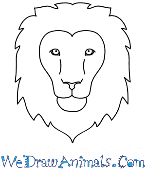How To Draw A Lion Face Lion head line icon, outline vector sign. how to draw a lion face