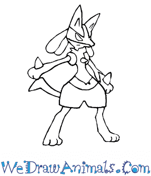 How to Draw  Lucario in 7 Easy Steps