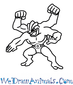 How to Draw  Machamp in 5 Easy Steps