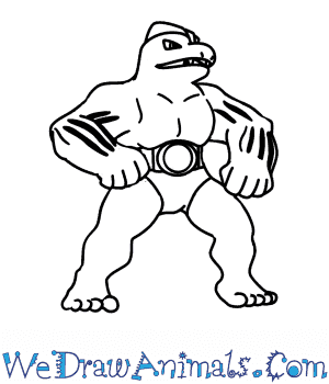 How to Draw  Machoke in 7 Easy Steps