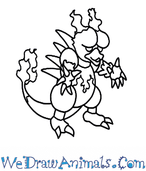 How to Draw  Magmar in 7 Easy Steps