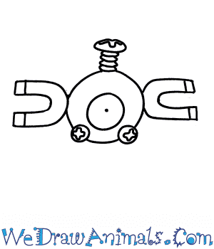 How to Draw  Magnemite in 5 Easy Steps
