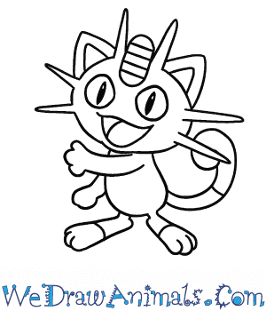 How to Draw  Meowth in 7 Easy Steps