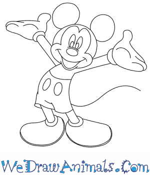 How to Draw  Mickey Mouse in 8 Easy Steps