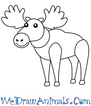 How to Draw a Moose For Kids in 6 Easy Steps