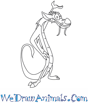 How to Draw  Mushu From Mulan in 8 Easy Steps