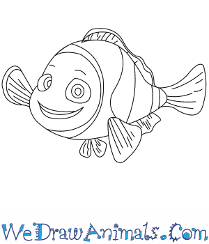 How to Draw  Nemo From Finding Nemo in 7 Easy Steps