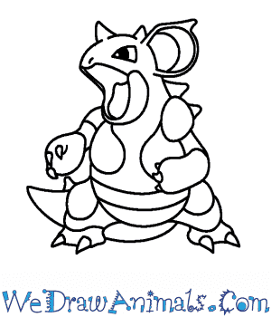 How to Draw  Nidoqueen in 7 Easy Steps