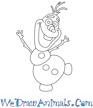 How to Draw  Olaf From Frozen in 7 Easy Steps