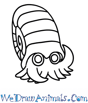How to Draw  Omanyte in 5 Easy Steps