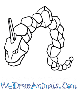 How to Draw  Onix in 6 Easy Steps