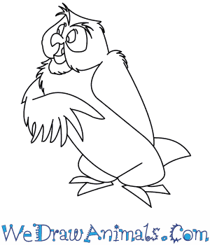 How to Draw  Owl From Winnie The Pooh in 7 Easy Steps