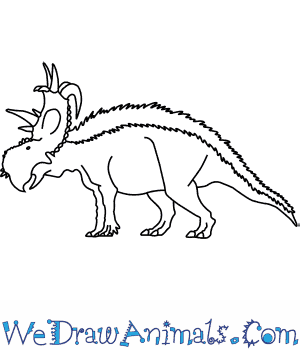 How to Draw a Pachyrhinosaurus in 6 Easy Steps
