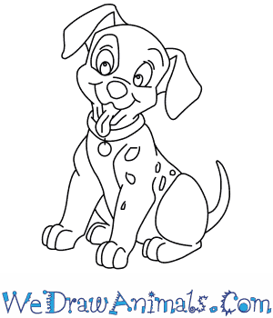 How to Draw  Patch From 101 Dalmatians in 7 Easy Steps