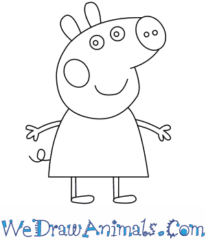 How to Draw  Peppa Pig in 8 Easy Steps