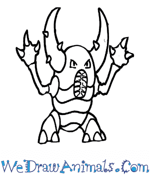 How to Draw  Pinsir in 7 Easy Steps