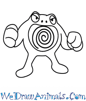 How to Draw  Poliwrath in 6 Easy Steps