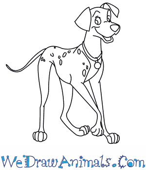 How to Draw  Pongo From 101 Dalmatians in 8 Easy Steps