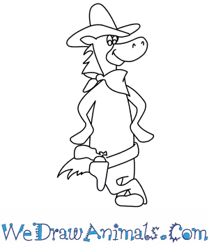 How to Draw  Quick Draw Mcgraw in 7 Easy Steps