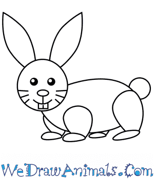 How To Draw A Simple Rabbit For Kids