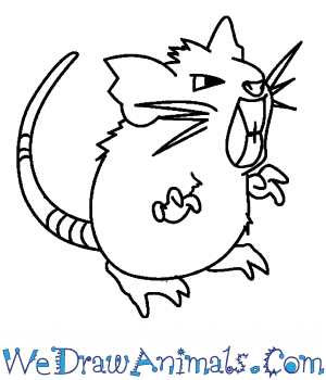 How to Draw  Raticate in 7 Easy Steps