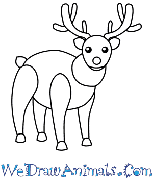 How to Draw a Reindeer For Kids in 6 Easy Steps