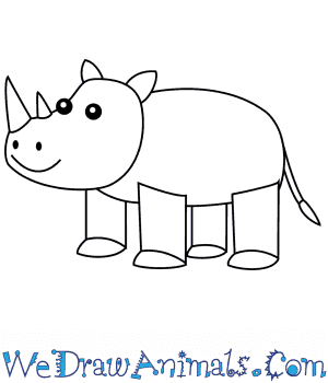 How to Draw a Rhino For Kids in 6 Easy Steps