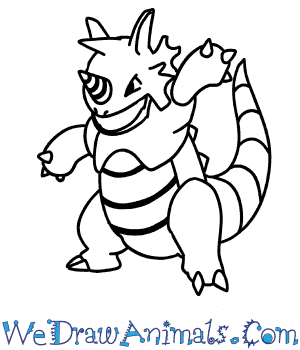 How to Draw  Rhydon in 7 Easy Steps