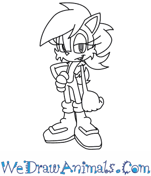 How to Draw  Sally Acorn From Sonic The Hedgehog in 8 Easy Steps