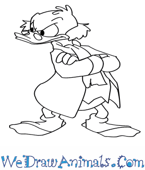 How to Draw  Scrooge Mcduck in 7 Easy Steps